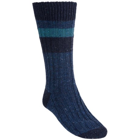 Pantherella Tweed Block Stripe Socks - Wool Blend, Crew (For Men)