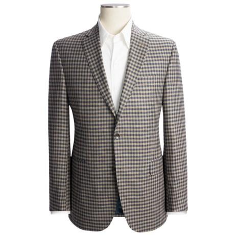 Jack Victor Check Sport Coat - Silk-Linen, Trim Fit (For Men)