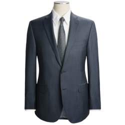 Jack Victor Trim Fit Sharkskin Suit - Wool-Mohair (For Men)