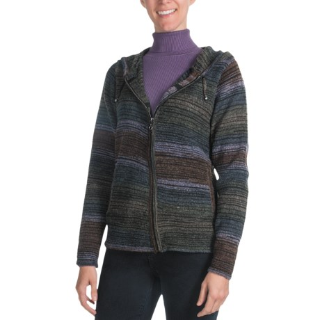 FDJ French Dressing Space-Dyed Hooded Cardigan Sweater - Full Zip (For Women)