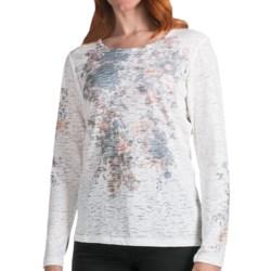 FDJ French Dressing Burnout Vintage Bouquet T-Shirt - Long Sleeve (For Women)