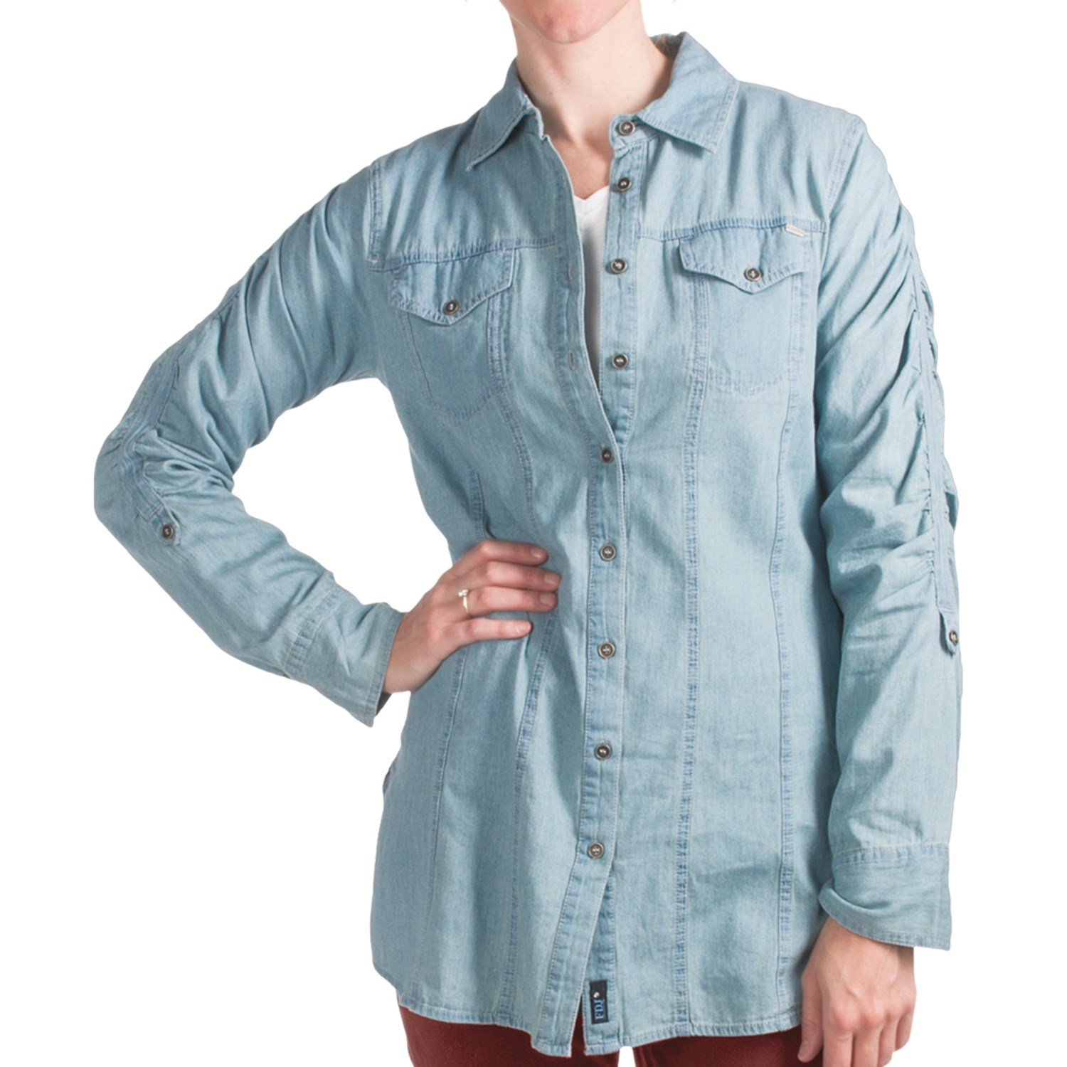 Fdj french dressing chambray shirt for women 6191g for Chambray shirt women