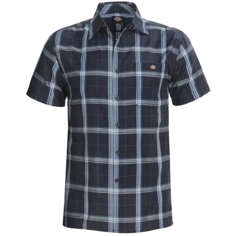 Dickies Plaid Square Bottom Shirt - Short Sleeve (For Big Men)