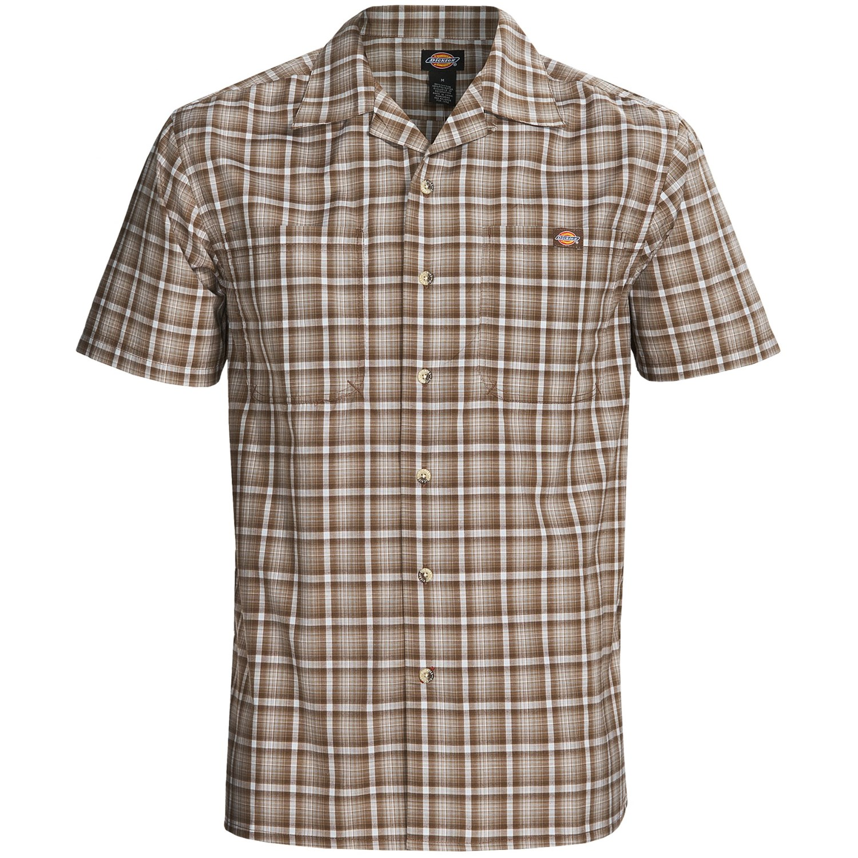 Dickies plaid camp shirt for men 6193f save 63 for Dickies short sleeve plaid shirt