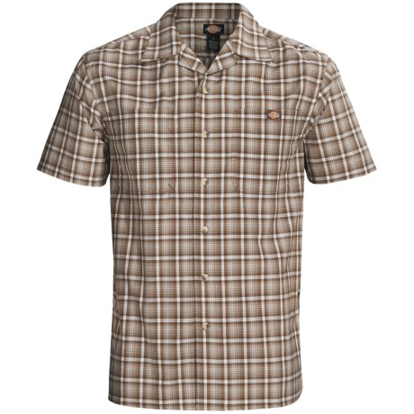 Dickies Plaid Camp Shirt - Short Sleeve (For Men)
