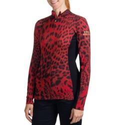 Bogner Arielle Leopard-Print Base Layer Top - Midweight, Zip Neck, Long Sleeve (For Women)