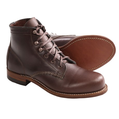 Wolverine Leather Lace-Up 1000 Mile Boots - Factory 2nds (For Women)