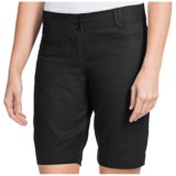 Stretch Cotton Twill Shorts (For Women)