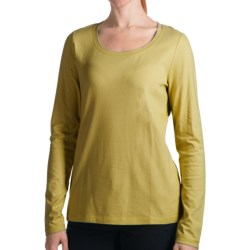 Specially made Stretch Cotton Knit Shirt - Long Sleeve (For Women)