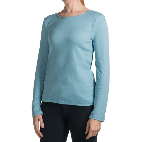 Specially made Pima Cotton Knit Shirt - Long Sleeve (For Women)