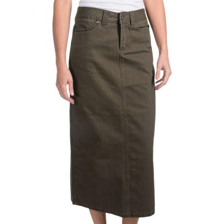 Cotton Twill Skirt (For Women)