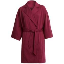 Stretch Ponte Knit Jacket - 3/4 Sleeve (For Plus Size Women)