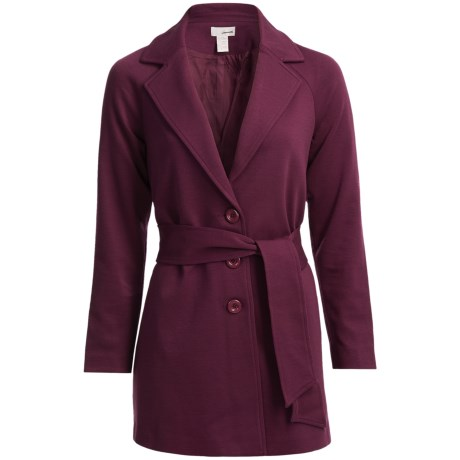Belted Ponte Knit Jacket (For Women)