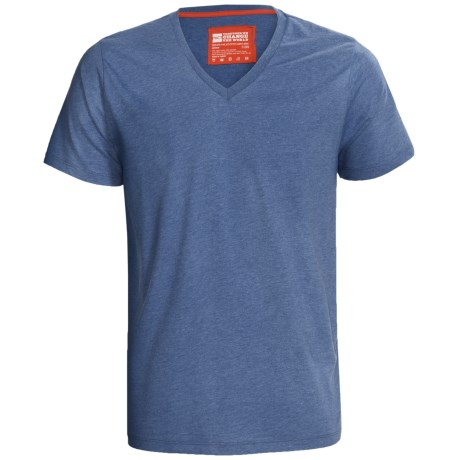 PACT Pact Heathered Organic Cotton T-Shirt - V-Neck, Short Sleeve (For Men)