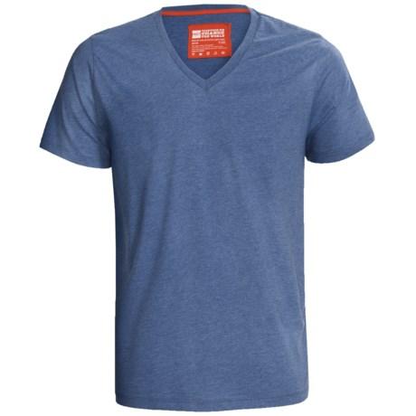 Pact Heathered Organic Cotton T-Shirt - V-Neck, Short Sleeve (For Men)