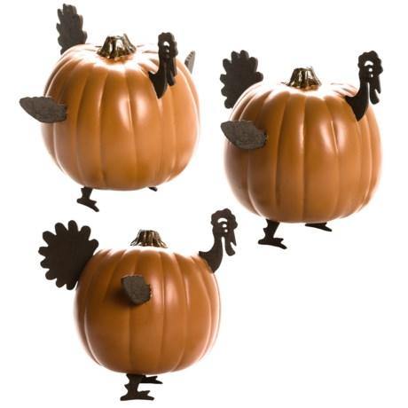 Esschert Design Rustic Metal Mini Pumpkin Decor - Set of 3, Turkey
