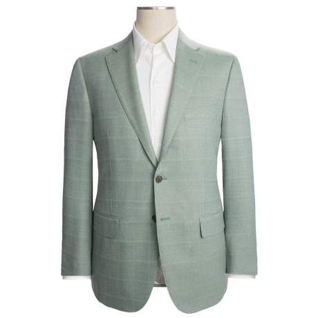 Isaia Wool Sport Coat - Faint Tonal Check (For Men)
