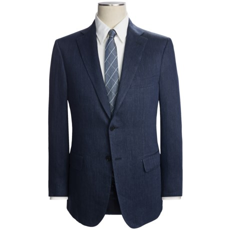 Isaia Heathered Suit - Linen (For Men)