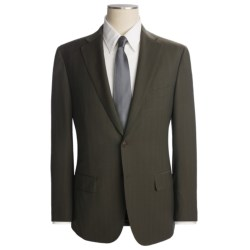 Isaia Faint Track Stripe Suit - Wool-Mohair (For Men)