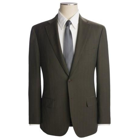 Isaia Faint Track Stripe Suit - Wool-Mohair (For Men)