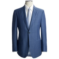 Isaia Stripe Suit - Wool-Linen (For Men)