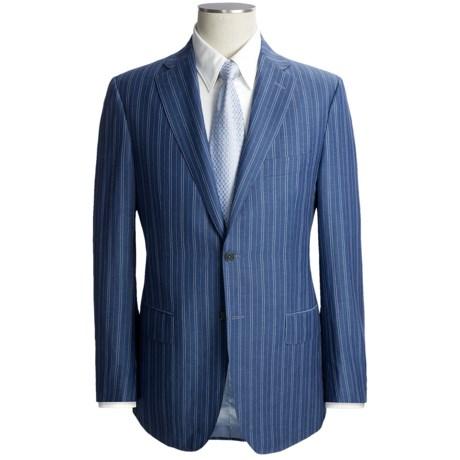 Isaia Stripe Suit - Wool-Linen (For Men)