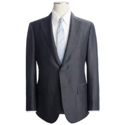Isaia Fancy Solid Suit - Wool-Linen (For Men)