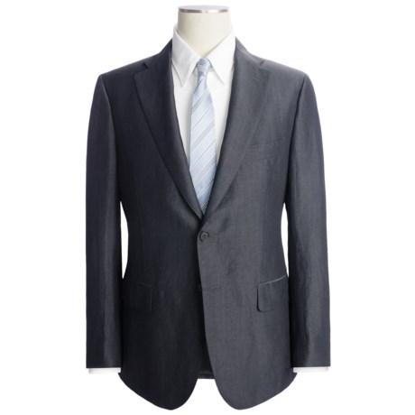 Isaia Fancy Solid Suit - Wool-Linen (For Men)