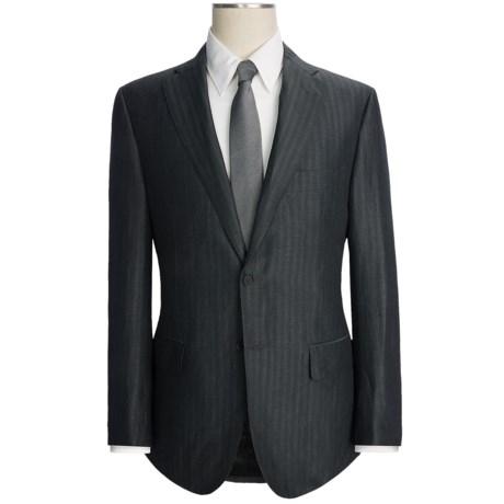 Isaia Tonal Stripe Suit - Wool-Linen (For Men)