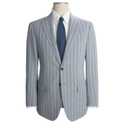Isaia Stripe Suit with Faint Houndstooth - Wool-Linen (For Men)