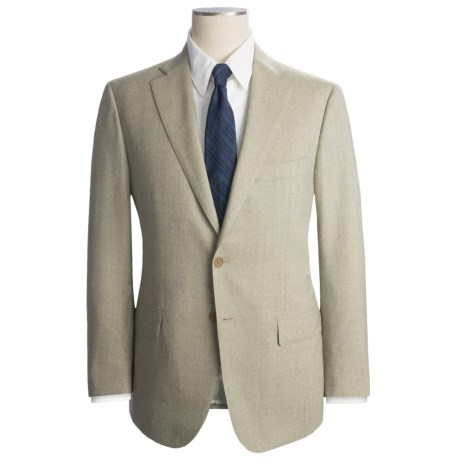 Isaia Solid Heathered Suit - Wool (For Men)