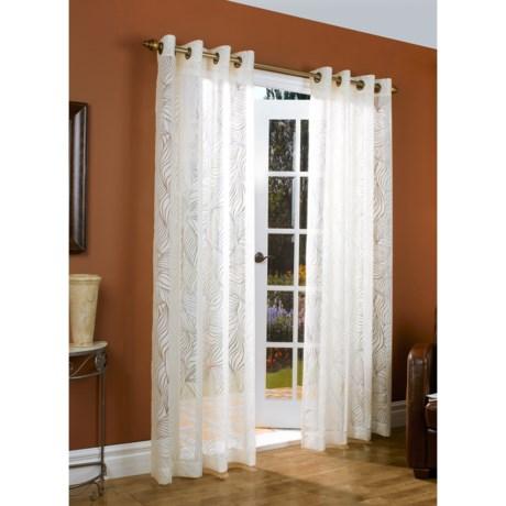 """Couture Paradise Burnout Curtains -104x84"""", Grommet-Top, Semi Sheer"""