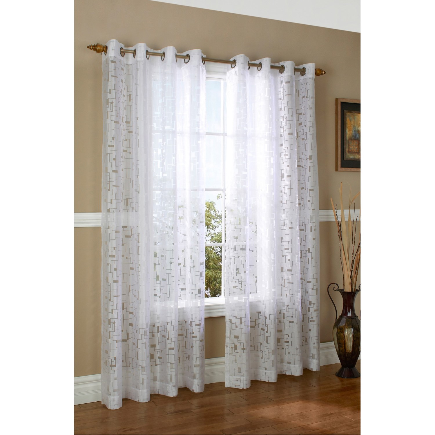 Couture Triumph Burnout Curtains 104x84 Quot Grommet Top