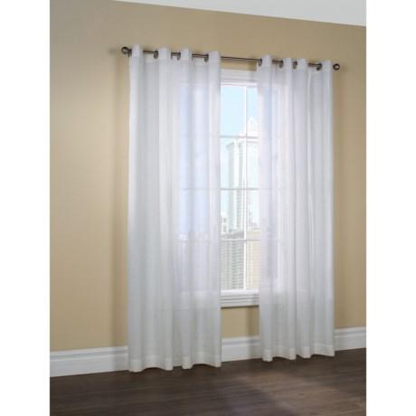 "Couture Belgium Linen Curtains - 100x84"", Grommet-Top, Semi Sheer"