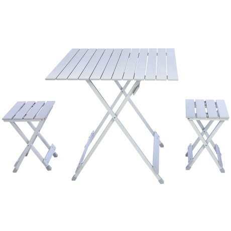 Picnic Time Folding Travel Table with Carry Sling and Seats