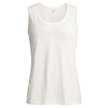 Stretch Scoop Neck Tank Top - Sleeveless (For Women)