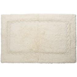 "Espalma Bathroom Rug with Cable-Knit Border - Cotton, 21x34"""