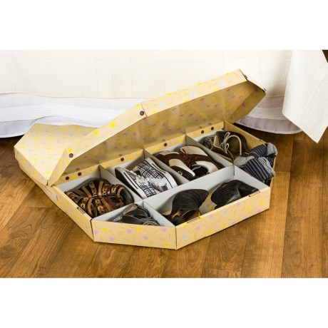 Luxury Living Under-the-Bed Shoe Storage Octagon