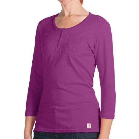 Carhartt Henley Shirt - 3/4 Sleeve (For Women)