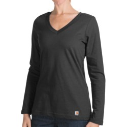 Carhartt Lightweight T-Shirt - V-Neck, Long Sleeve (For Women)
