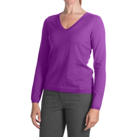 Belford Merino Wool Sweater - V-Neck (For Women)