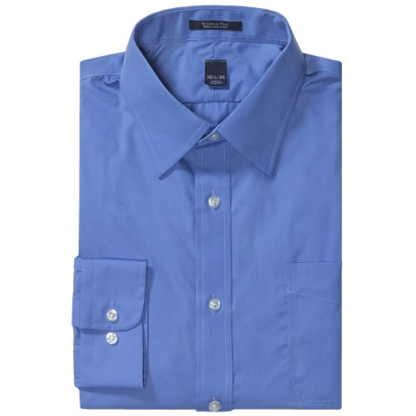 Specially made Wrinkle-Free Broadcloth Dress Shirt - Long Sleeve (For Men)