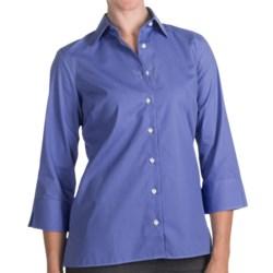 Broadcloth Shirt - Wrinkle Resistant, 3/4 Sleeve (For Women)