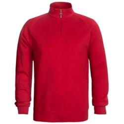 Fairway & Greene Lux Interlock Pullover - Zip Neck, Long Sleeve (For Men)