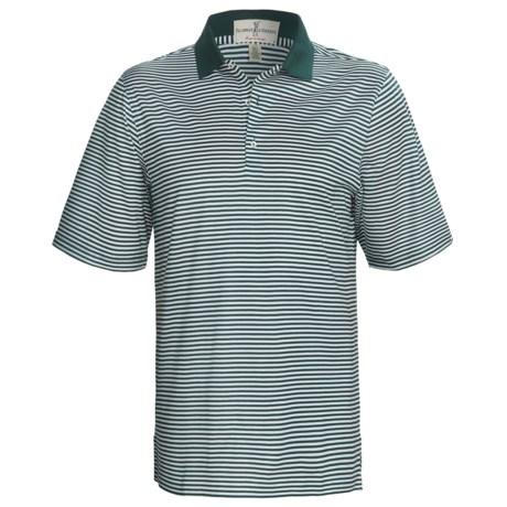 Fairway & Greene Classic Stripe Lisle Polo Shirt - Short Sleeve (For Men)