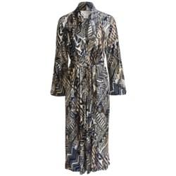 Diamond Tea Long Wrap Robe - Long Sleeve (For Women)