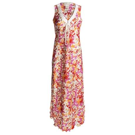 Diamond Tea Charmeuse Nightgown - Sleeveless (For Women)