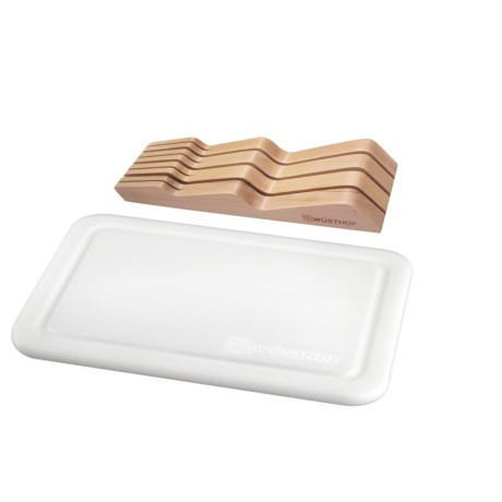 Wusthof In-Drawer Knife Organizer and Cutting Board Set
