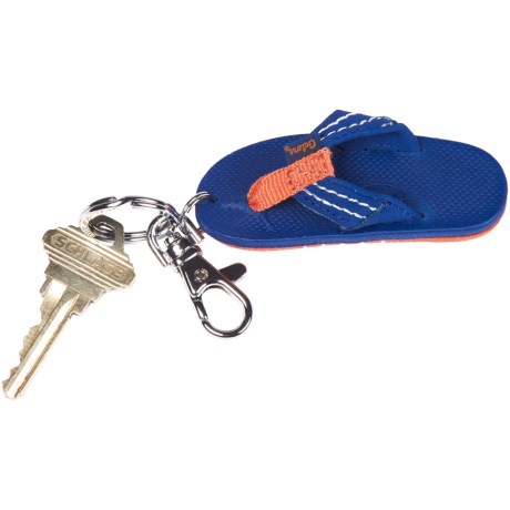 Rainbow Sandals Rubber Sandal College Keychain
