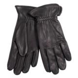 Cire by Grandoe Black Hawk Deerskin Gloves - Fleece Lined (For Men)